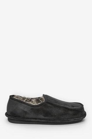 Black Closeback Slippers