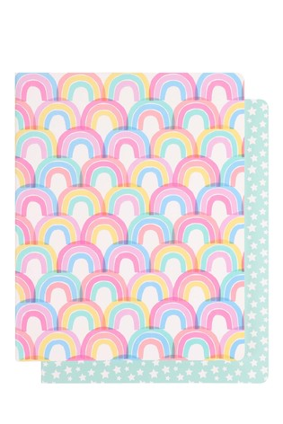2 Pack Paperchase Rainbow Notebook Set