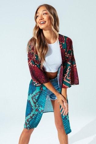 Hype. Womens Multi Bronze Hiss Kimono