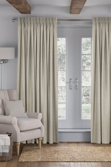 Inspira Pewter Natural Made To Measure Curtains