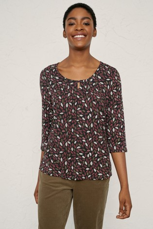Seasalt Red Needle Point Top