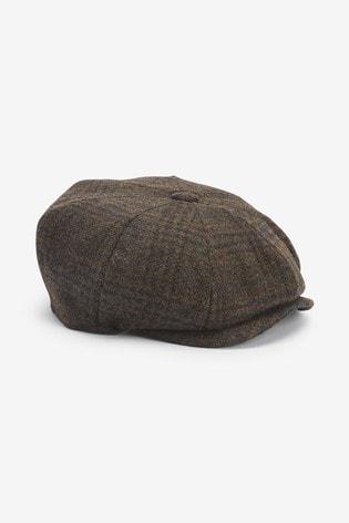 Brown Christys' London Baker Boy Hat