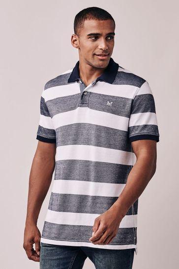 Crew Clothing Company Blue Oxford Polo Shirt