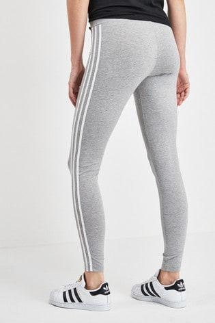 adidas Originals Grey 3 Stripe Leggings