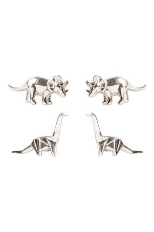 Oliver Bonas Isla Nublar Dino Stud Earrings Set Of Two