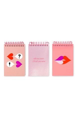 kate spadenew york Set Of 3 Heart Lips Spiral Notepads
