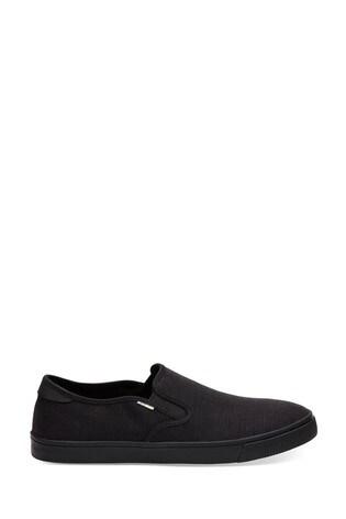 Toms Black Baja Slip On Shoes