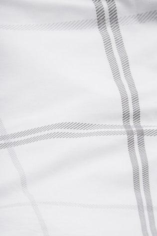 2 Pack Natural Reversible Versatile Check Duvet Cover and Pillowcase Set