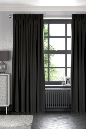 Soft Velour Charcoal Grey Made To Measure Curtains