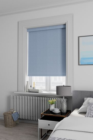 Arden Periwinkle Blue Made To Measure Blackout Roller Blind