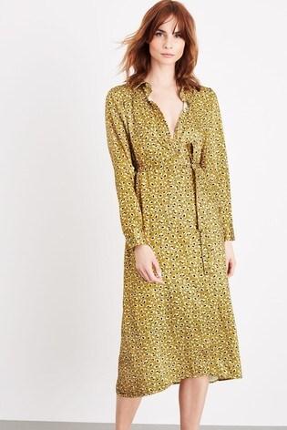 Damsel In A Dress Yellow Ulrika Leopard Dress