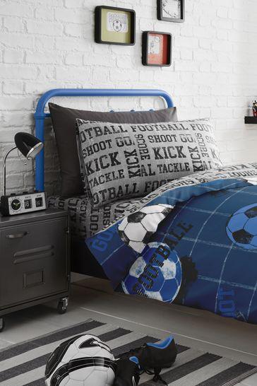 Football Duvet Cover and Pillowcase Set by Bedlam