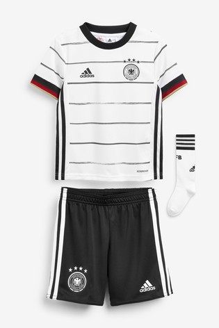 adidas Little Kids White Germany Home Kit