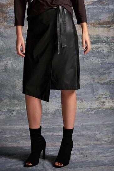 Sonder Studio Black Tie Side Detail Skirt