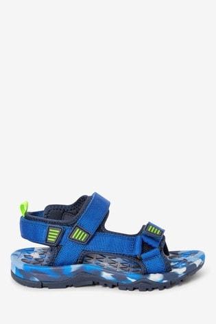 Cobalt Strap Touch Fastening Trekker Sandals