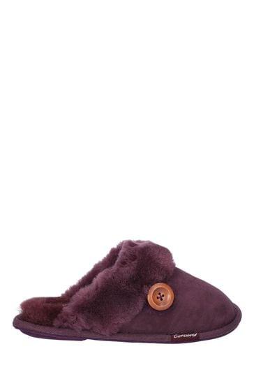 Cotswold Lechlade Sheepskin Mule Slippers