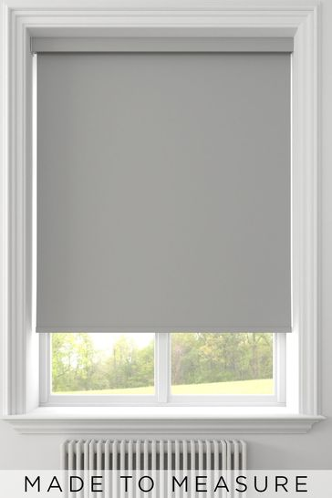 Syson Smoke Grey Made To Measure Waterproof Roller Blind