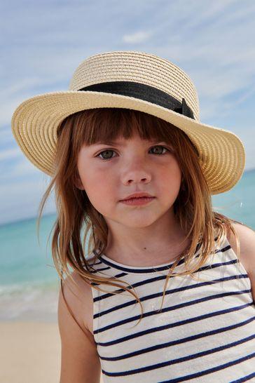 Straw Boater Hat (3mths-6yrs)