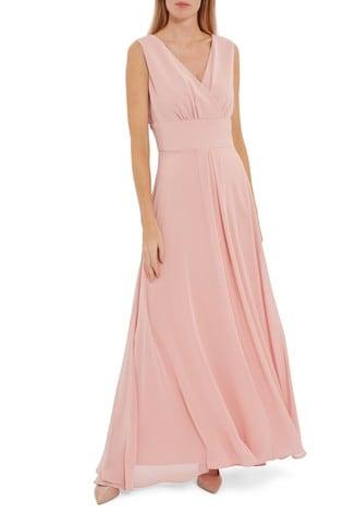 Gina Bacconi Pink Christiana Chiffon Maxi Dress