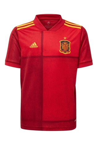 adidas Red Spain Home Football Shirt