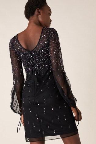 Monsoon Black Henrietta Heart Sequin Tunic Dress