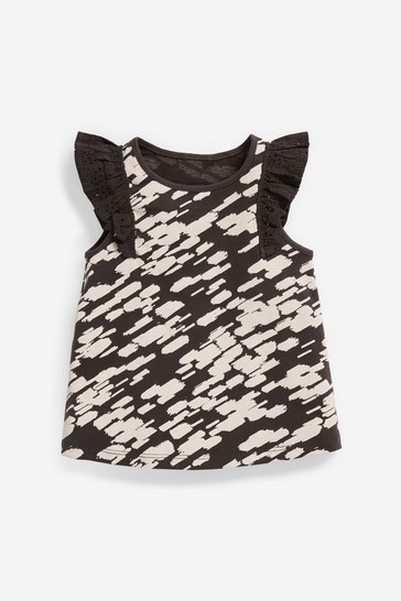 Monochrome Frill Vest (3mths-8yrs)