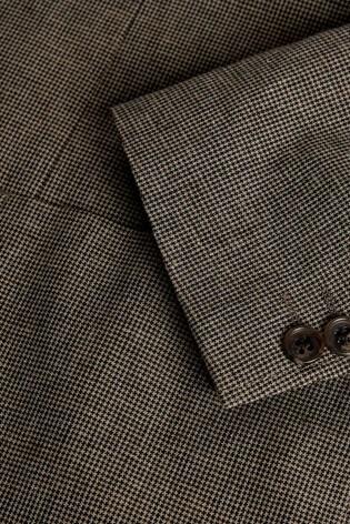 Taupe Slim Fit Linen Blend Blazer