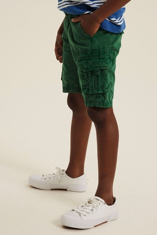 FatFace Green Lulworth Cargo Shorts