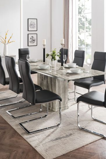 Porta Extending Dining Table with 8 Chairs by Alfrank