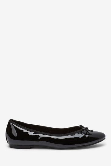 Black Patent Ballerina Shoes