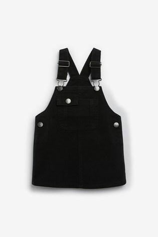 Black Denim Pinafore (3mths-7yrs)