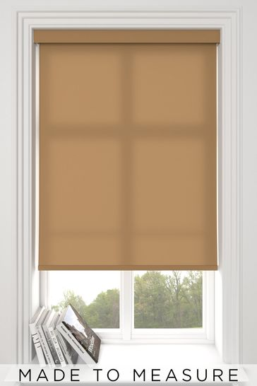 Asher Toffee Brown Made To Measure Light Filtering Roller Blind