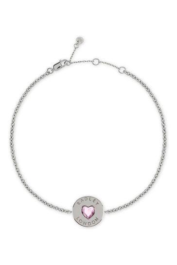 Radley London Sterling Silver Heart Stone Bracelet