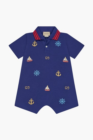 Baby Boys Navy Cotton Shortie