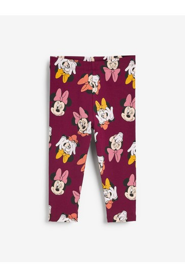 Plum Minnie Mouse Leggings Leggings (3mths-7yrs)