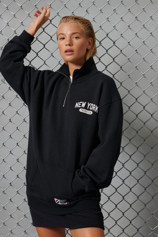 Superdry Limited Edition City College Henley Half Zip Top