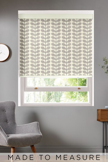Scribble Stem Grey Made To Measure Roller Blind by Orla Kiely