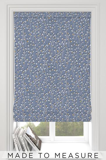 Bijou Mineral Blue Made To Measure Roman Blind
