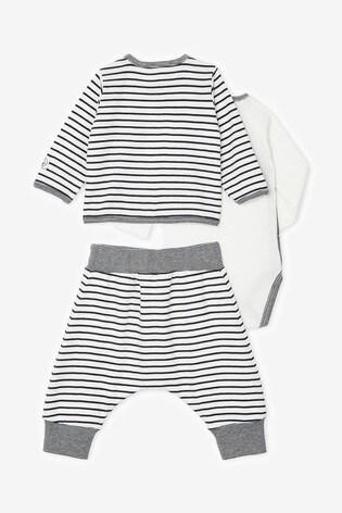 Petit Bateau Navy Striped 3 Piece Outfit Set
