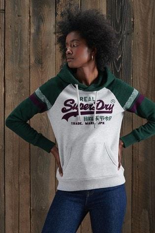 Superdry Vintage Logo Varsity Raglan Hoody