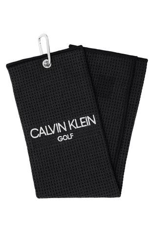 Calvin Klein Golf Black Tri-Fold Towel