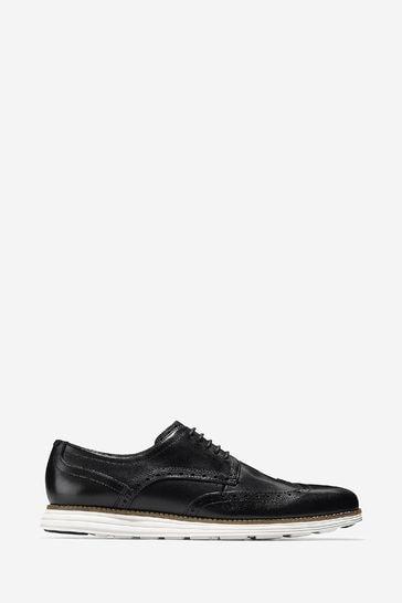 Cole Haan Black Original Grand Wingtip Oxford Shoes