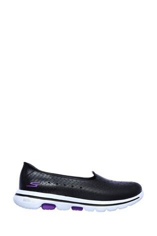 Skechers® Black Go Walk 5 Sun Kissed Trainers
