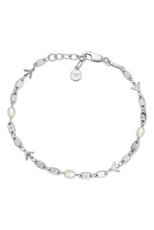 Emporio Armani Sterling Silver Essential Pearl Bracelet