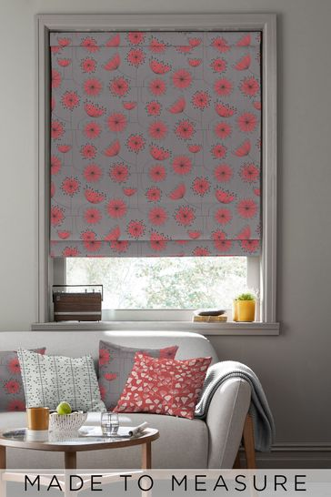 Dandelion Mobile Storm Grey Made To Measure Roman Blind by MissPrint