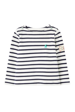 Joules White Harbour Organically Grown Cotton Top