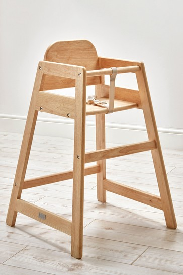 Cafe High Chair Natural By East Coast