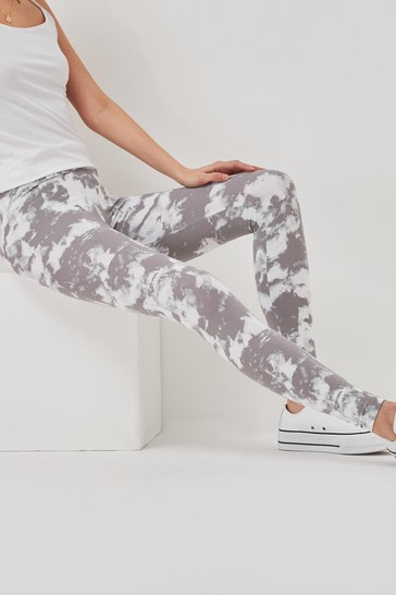 Marble Printed Full Length Leggings