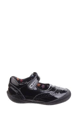 Hush Puppies Black Rina Infant School Shoes