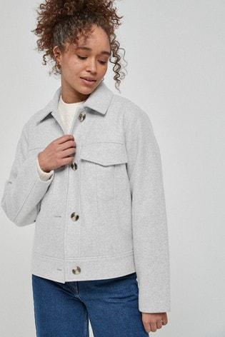 Grey Short Shacket